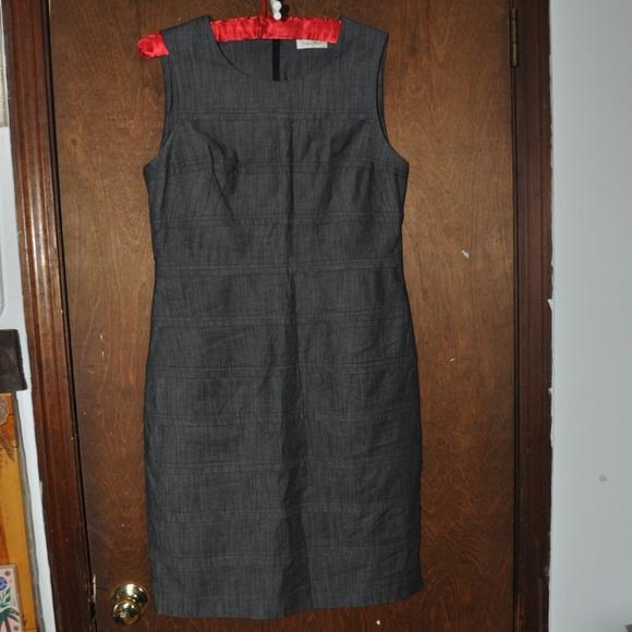 Calvin Klein Dresses & Skirts - CALVIN KLEIN Gray Sheath Dress